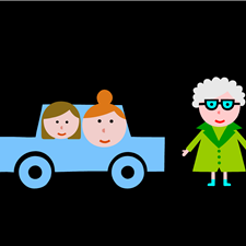 "An illustration of Grandma is a new feature in the task: ""We are going to Grandma's today!"" The new picture appear when we can hear: ""Grandma, we are coming!"""